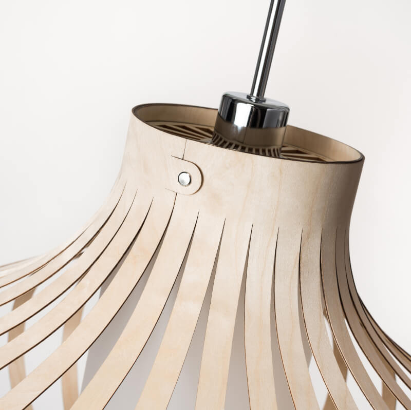 model Fosa - design lamp - houten lamp - boven kant