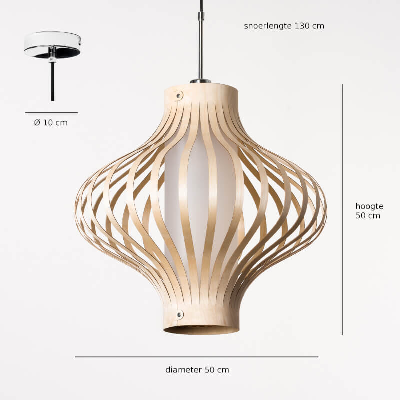 houten hanglamp - design lamp - model fosa