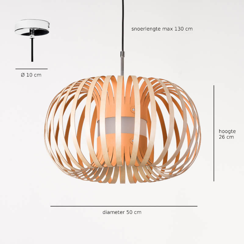 houten hanglamp - design lamp - model meta