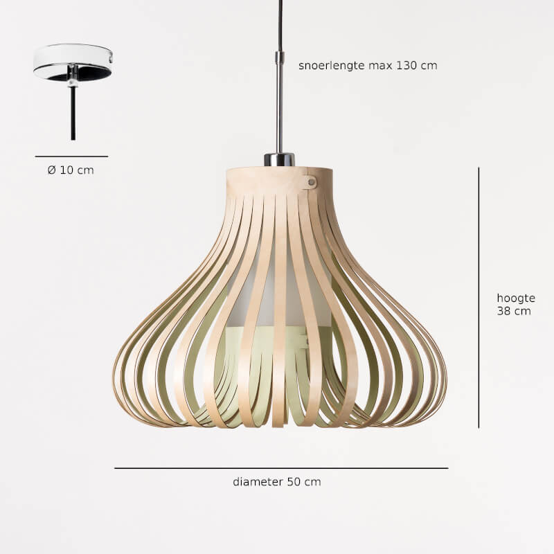houten hanglamp - design lamp - model mora