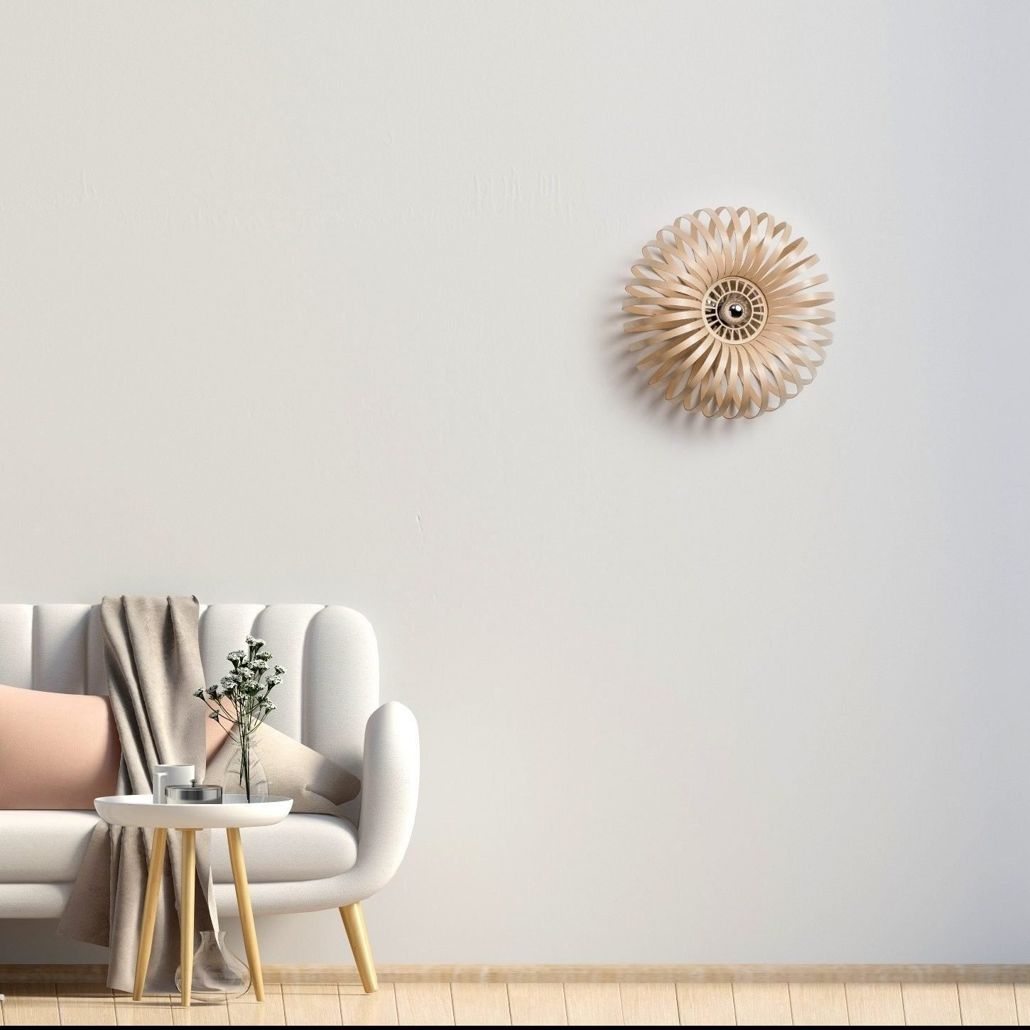 Lion Design-  houten muurlamp - Meta wall