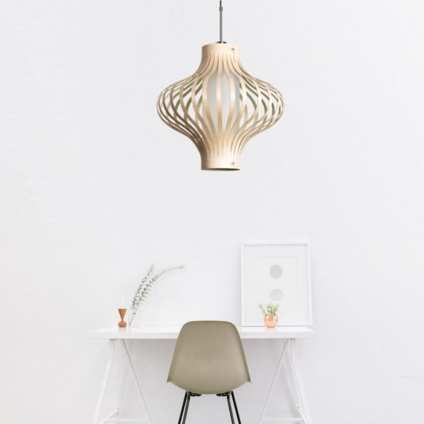 houten hanglamp - model fosa - Design