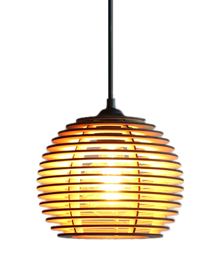 houten hanglamp - design lamp - model alpha